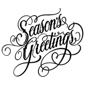Tim Holtz Wood Mounted Stamp - Script Season's Greetings P1-2692