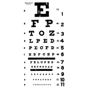 Tim Holtz Wood Mounted Stamp - Eyechart P2-1536