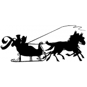 Tim Holtz Wood Mounted Stamp - Deco Sleigh Ride P2-2211