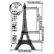 Tim Holtz Wood Mounted Stamp - Eiffel Sketch P4-1103