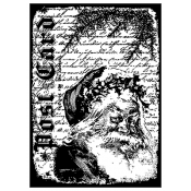 Tim Holtz Wood Mounted Stamp - Santa Letter P4-1371