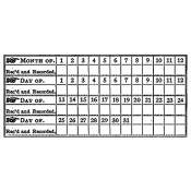 Tim Holtz Wood Mounted Stamp - Date Chart P5-1413