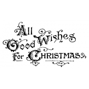 Tim Holtz Wood Mounted Stamp - Good Wishes P5-2205