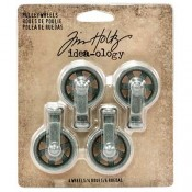 Tim Holtz Idea-ology Mini Pulley Wheels - TH93580