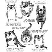 Tim Holtz Cling Mount Stamps: Snarky Cat CMS392