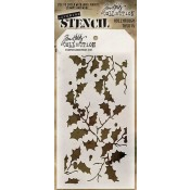 Tim Holtz Layering Stencil - Holly Bough THS015