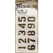 Tim Holtz Layering Stencil - Numbered THS020