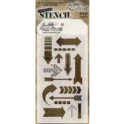 Tim Holtz Layering Stencil - Arrows THS025