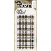 Tim Holtz Layering Stencil - Plaid THS097