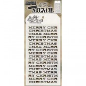Tim Holtz Layering Stencil - Merry Christmas THS098
