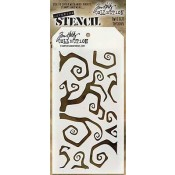 Tim Holtz Layering Stencil - Twisted THS065