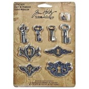 Tim Holtz Idea-ology Locket Keys - TH92822