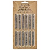 Tim Holtz Idea-ology Word Bands: Observations - TH93084