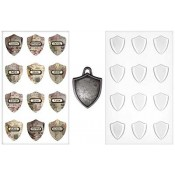 Tim Holtz Idea-ology Shield Charms - TH93212