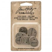 Tim Holtz Idea-ology Typed Tokens: Christmas - TH93629