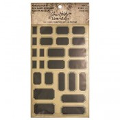 Tim Holtz Idea-ology Metallic Stickers: Labels - TH93335