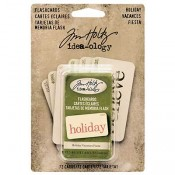 Tim Holtz Idea-ology Holiday Flashcards - TH93346