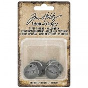Tim Holtz Idea-ology Typed Tokens: Halloween - TH93601