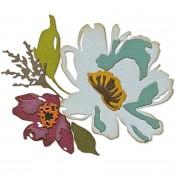 Sizzix Thinlits Die Set: Brushstroke Flowers #3 665360