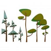 Sizzix Thinlits Die Set: Funky Trees 665217
