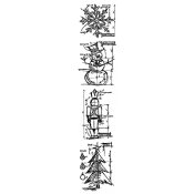Tim Holtz Blueprint Strip Stamps - Christmas THMB003