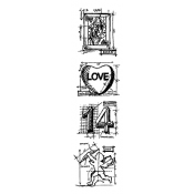 Tim Holtz Blueprint Strip Stamps - Valentine THMB004