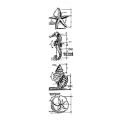 Tim Holtz Blueprint Strip Stamps - Nautical THMB017