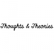 Tim Holtz Wood Mounted Stamp - Thoughts & Theories G3-3012