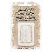Tim Holtz Idea-ology Transparent Alpha Tiles: Christmas - TH93657