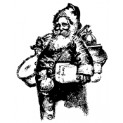 Tim Holtz Wood Mounted Stamp - Old Fashioned Santa U1-2206