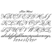 Tim Holtz Wood Mounted Stamp - Handwriting U1-2324