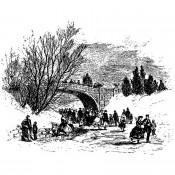 Tim Holtz Wood Mounted Stamp: Scenic Bridge U1-3390