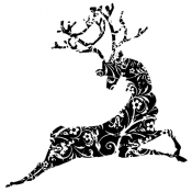 Tim Holtz Wood Mounted Stamp - Reindeer U2-1375
