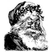 Tim Holtz Wood Mounted Stamp - Santa Sketch U2-1379
