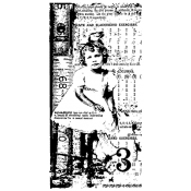 Tim Holtz Wood Mounted Stamp - Girls Rule U3-1091