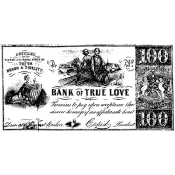 Tim Holtz Wood Mounted Stamp - True Love U3-1107