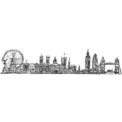 Tim Holtz Wood Mounted Stamp - London Cityscape U4-2596
