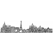 Tim Holtz Wood Mounted Stamp - Paris Cityscape U4-2598