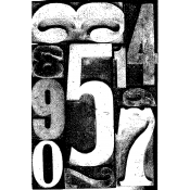 Tim Holtz Wood Mounted Stamp - By The Numbers V2-1108