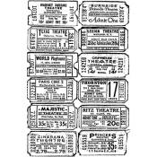 Tim Holtz Wood Mounted Stamp - Tickets V2-1130