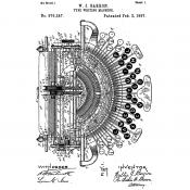 Tim Holtz Wood Mounted Stamp - Inventor Typewriter V2-3187