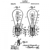 Tim Holtz Wood Mounted Stamp - Inventor Bulb V2-3188