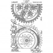Tim Holtz Wood Mounted Stamp - Inventor Gears V2-3303