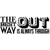 Tim Holtz Wood Mounted Stamp - Way Out P3-2966