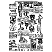 Tim Holtz Wood Mounted Stamp - Halloween Catalog X1-2200
