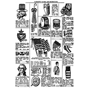 Tim Holtz Wood Mounted Stamp - Patriotic Catalog X1-2213