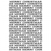 Tim Holtz Wood Mounted Stamp - Christmas X1-3142