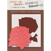 Wendy Vecchi STAMP-it Stencil-it: A Rose is a Rose WVSTST028