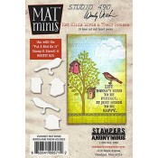 Wendy Vecchi Mat Minis: Birds and Their Houses WVMM07