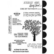 Wendy Vecchi Cling Mount Stamps - Card Art Sentiments SCS146